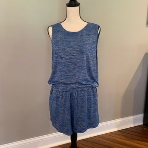 Gap blue shorts romper with pockets